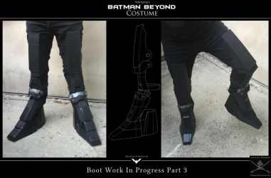 Batman Beyond Cosplay - Work in Progress Part 8 by SaberPeep