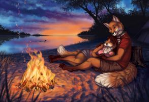 Evening Warmth - WIP6 by GoldenDruid