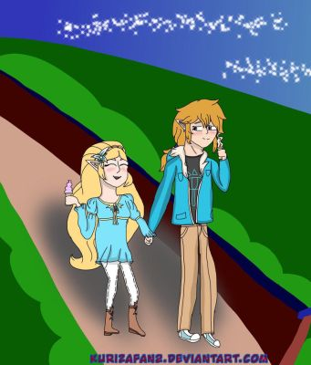 AT ZeLink: A Nightime Stroll or Date by zeldaxfanatic