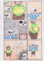 Fat Chara vs Sans by DDDDude1