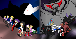 Darkens vs Shadow Demons by Thesimpleartist4