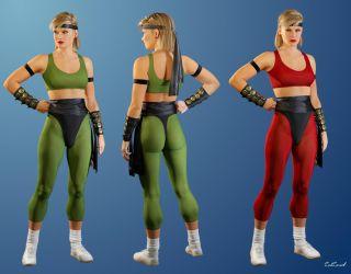 Sonya Blade - Mortal kombat by ZabZarock