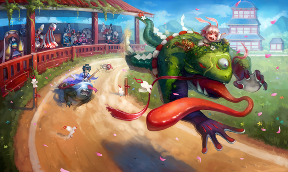 Kyoto Drift! Onmyoji fan art contest by AizelKon