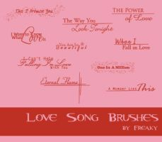 Love Song Brushes by freaky-x