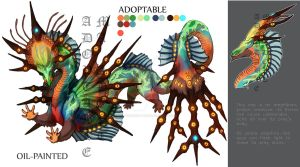 ADOPTABLE Close : OILPAINTED [Auction][paypal] by SmileykittyAdopt
