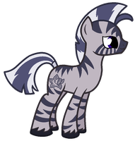 MLP Zebra Adoptable Auction by MonkFishyAdopts