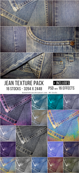 Jean Textures Pack - PSD with 16 Effects by manuelvelizan