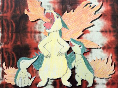 Cyndaquil Family by Sia-the-Mawile