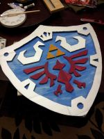 Link's Shield for Halloween by chrishillman