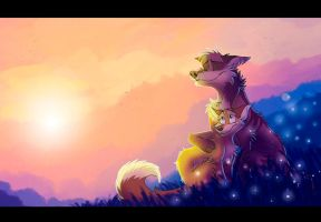 Peaceful sunset by Darkpaw2001