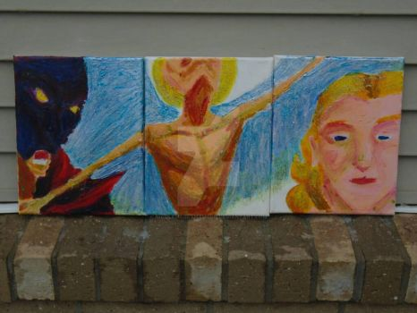 Trinity,  Triptych  of  Erik  and  Christine   by NicoleMAbrahamson