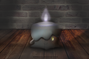No 607 This light is not fading Litwick by Hyperagua