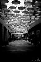 Umbrellas in a mall by J525