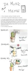 Music meme, the cactus by isi-on-guitar