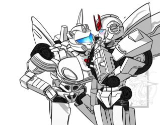 Jazz and Prowl - Inktober 2018 by ralloonx