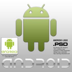 Android Logo HD .PSD by zandog