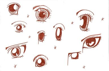 Anime Eyes by Mauvaise-Humeur