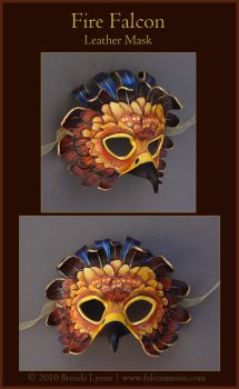 Fire Falcon - Leather Mask by windfalcon