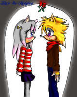 Under the mistletoe by Libra-the-Hedghog