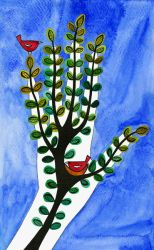 Green Fingers Painting by TootieFalootie