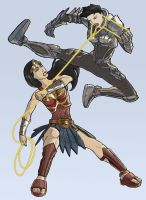 Wonder Woman Vs Faora by kinjamin