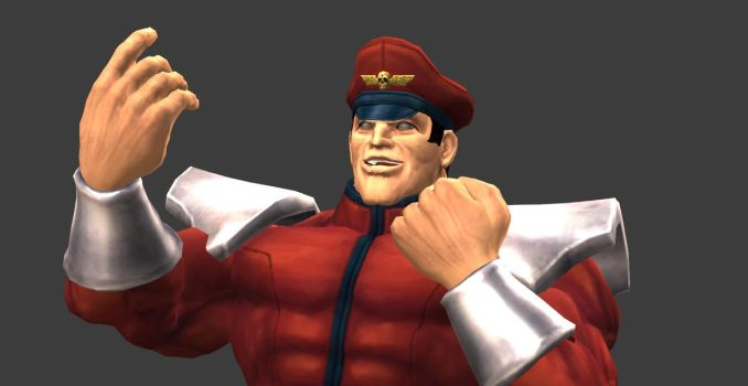M Bison's Yes pose by MichaelJordy