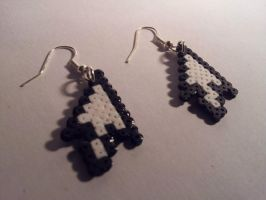 Hama Cursor Earrings by Retr8bit