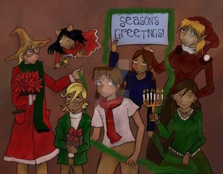 Christmas Card 2009 by nekozikasilver1