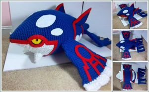 Giant Crocheted Kyogre by TheEmeraldStitch