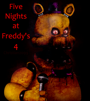 Five Nigths At Freddys 4- FredBear by Christian2099