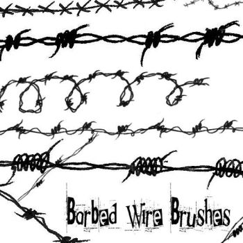 Barbed Wire brushes by Red--Roses