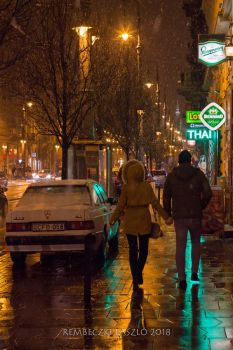 Late winter night in the city by rembo78