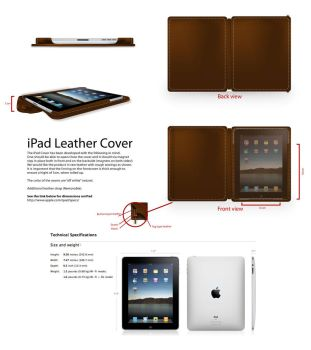 Ipad leather portfolio concept by usk