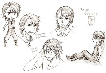 9 Atlus Sketches by Neysun