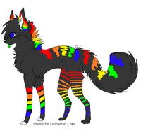 Rainbow Dog ..::OPEN::.. by love-the-adopts