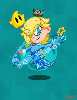 Rosalina and Luma - Super Mario Galaxy by OJhat
