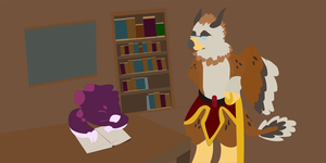 I once read my-shelf to sleep... by FNOKitty