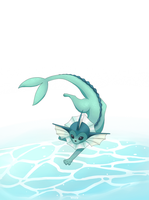 Vaporeon by ItsWolven