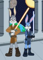Two Jedi Bunnies by MCsaurus