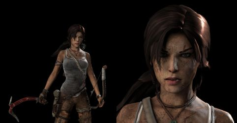 Survivor Lara + Face close-up by SKing-TRF