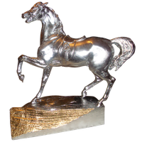 Silver horse png by Adagem