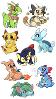 Pokemon Themed Wyngro Adopts [CLOSED] by Nestly