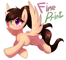 Commission 13 : Fine print by Marenlicious