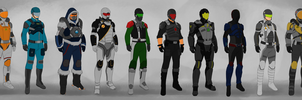 Classic Space Suits by joshuad17