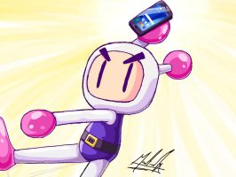 Bomberman have a Galaxy Note 7 by SailorBomber