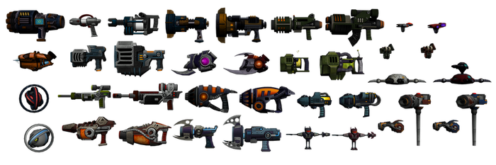 Ratchet and Clank: GC - Weapon pack by o0DemonBoy0o
