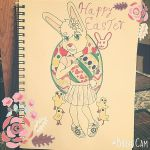 Female easter bunny in coming by mkl91