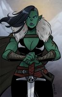 Orc Warrior by kassarie-art