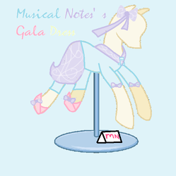 GGG: Musical Note's Gala Dress by Miko-Chan10