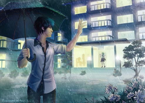 Rain  flower you and me by ArchEvilia